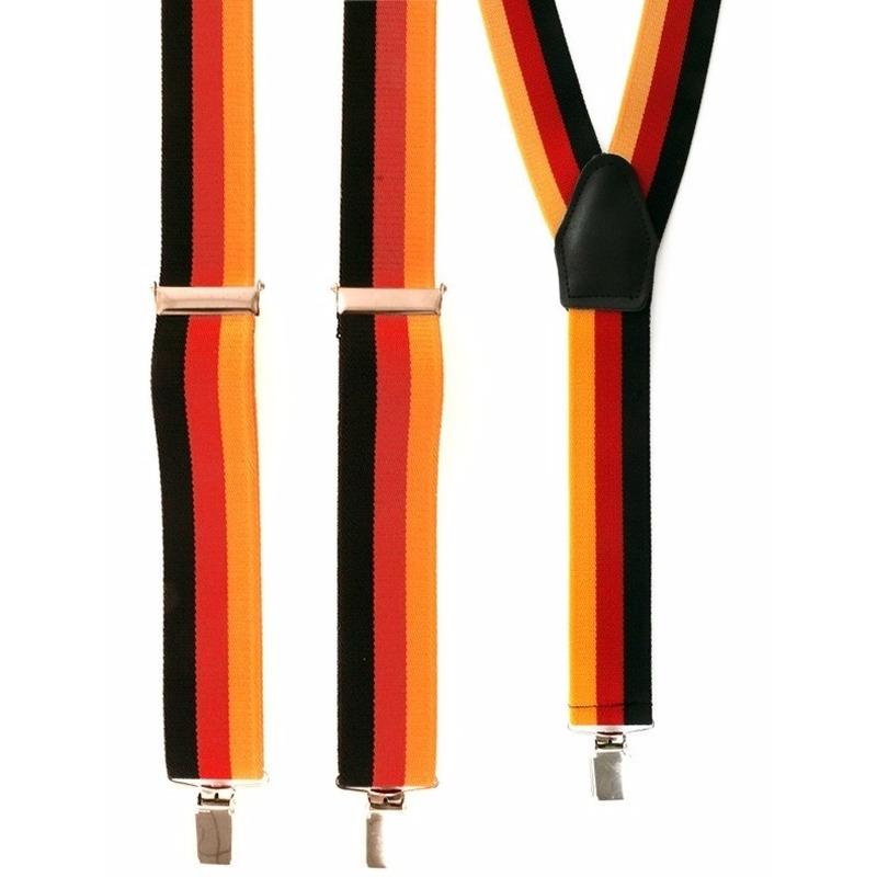 Bretels geel/rood/zwart