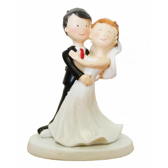 Bruidspaar poppetjes dansend