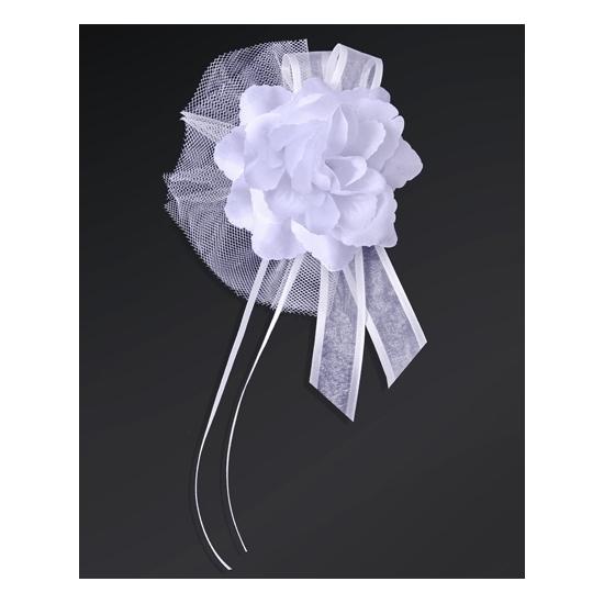 Bruiloft antenne linten wit 4x