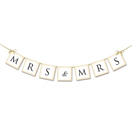 Bruiloft mini slinger Mrs & Mrs 90 cm