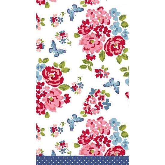 Bruiloft tafelkleed rozen print 138 x 220 cm