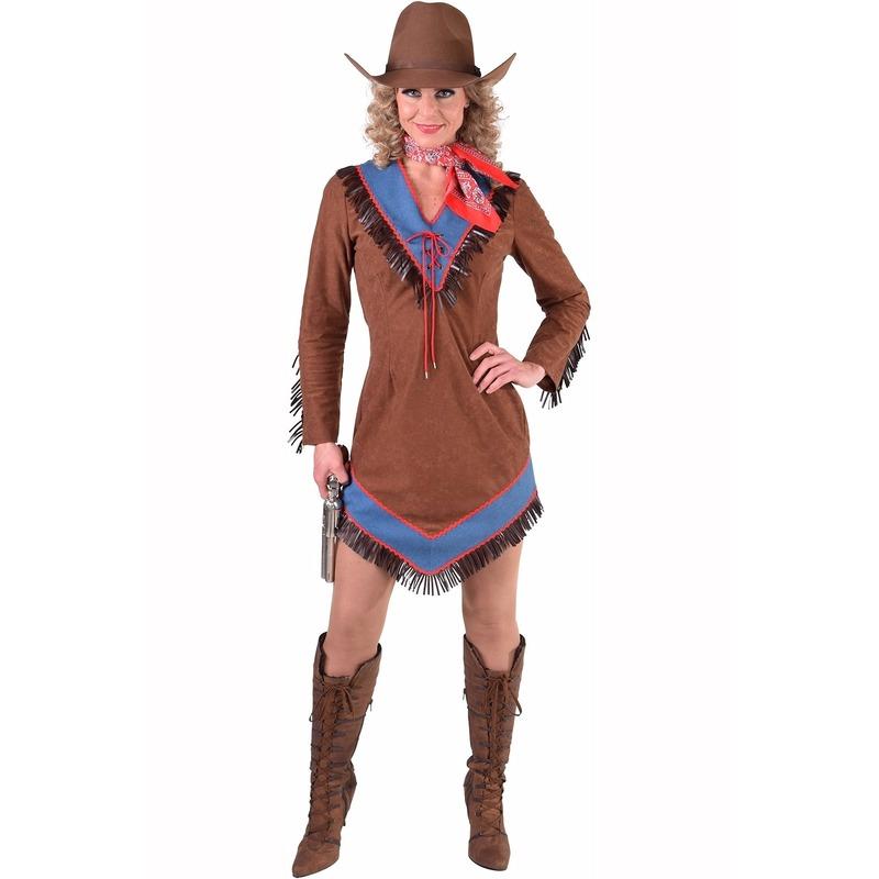 Bruin cowgirl jurkje voor dames