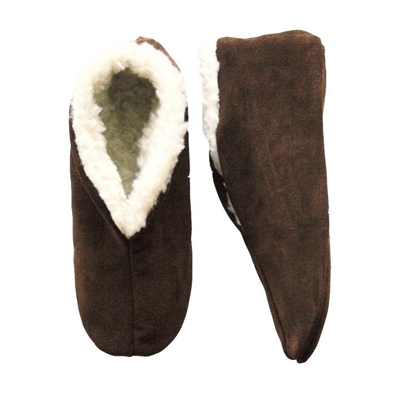 Bruine Spaanse sloffen/pantoffels voor dames/heren