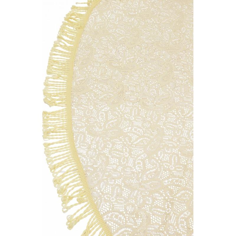 Buiten tafelkleed/tafellaken beige 160 cm rond