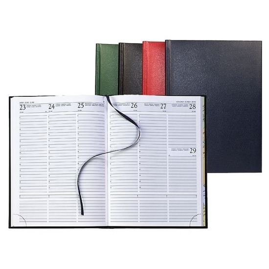 Bureau agenda 2020 hardcover bordeaux rood met weekindeling