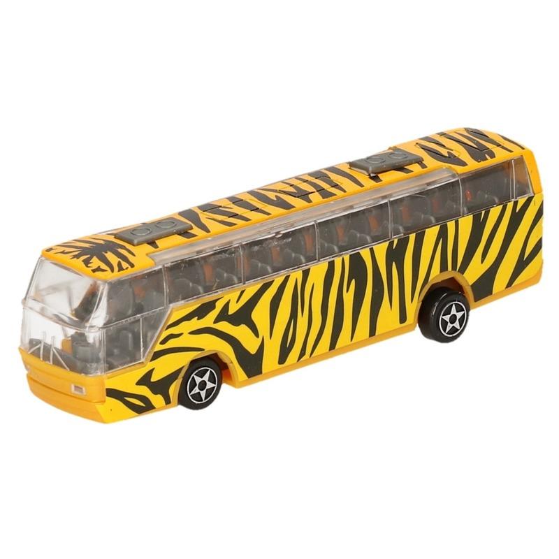 Bus safari speelgoedauto giraf print 14 cm