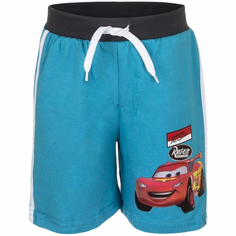 Cars korte broek blauw voor jongens