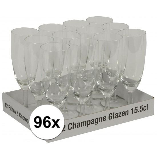Champagne glazen 96 stuks
