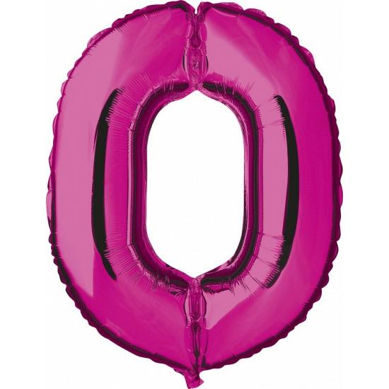 Cijfer nul 0 ballon roze