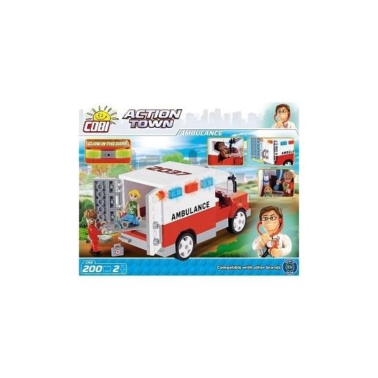 Cobi ambulance bouwstenen set