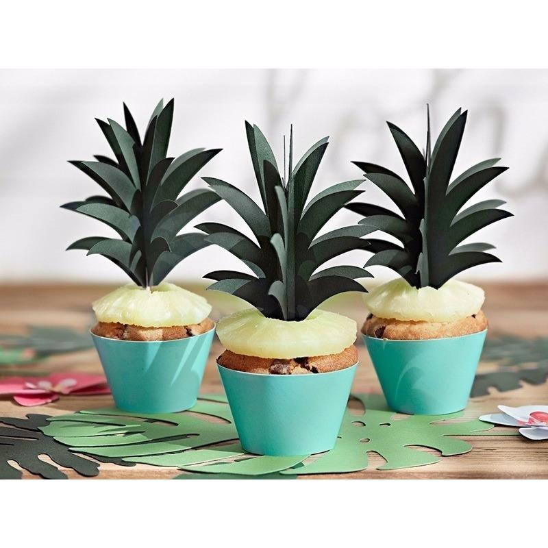 Cocktailprikkers ananas bladeren 6 stuks