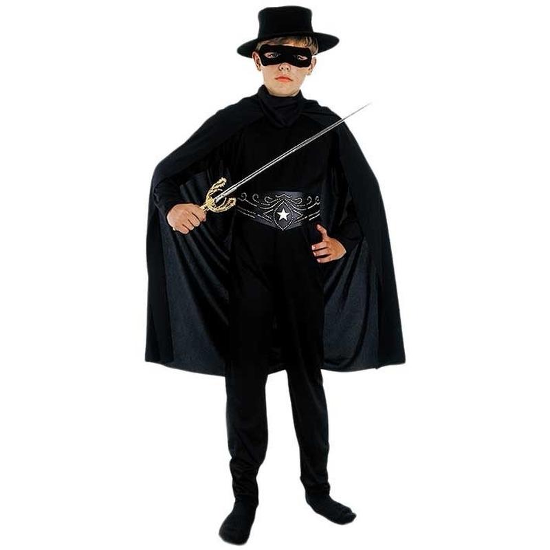 Compleet zwarte held kostuum voor kinderen