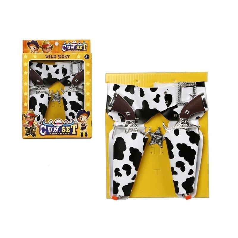 Cowboy holsters in koeienprint kids