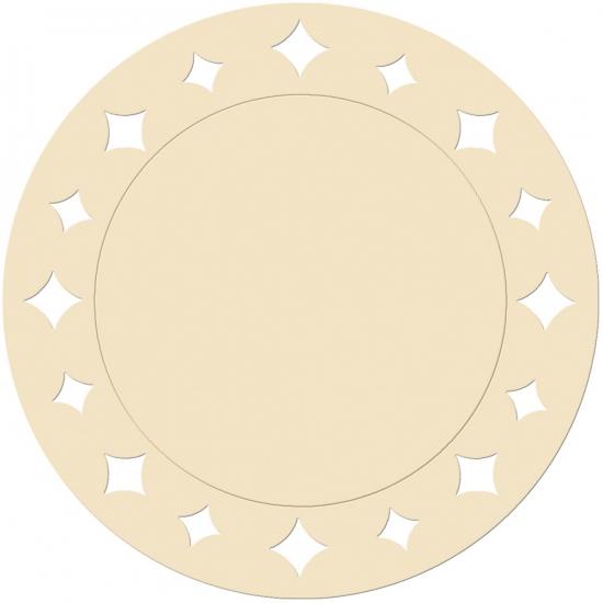 Creme placemats 33 cm