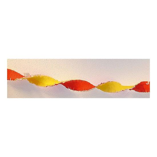 Crepe slinger rood - geel 30 meter