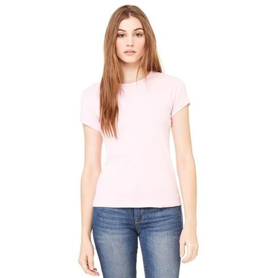 Dames t-shirt ronde hals roze