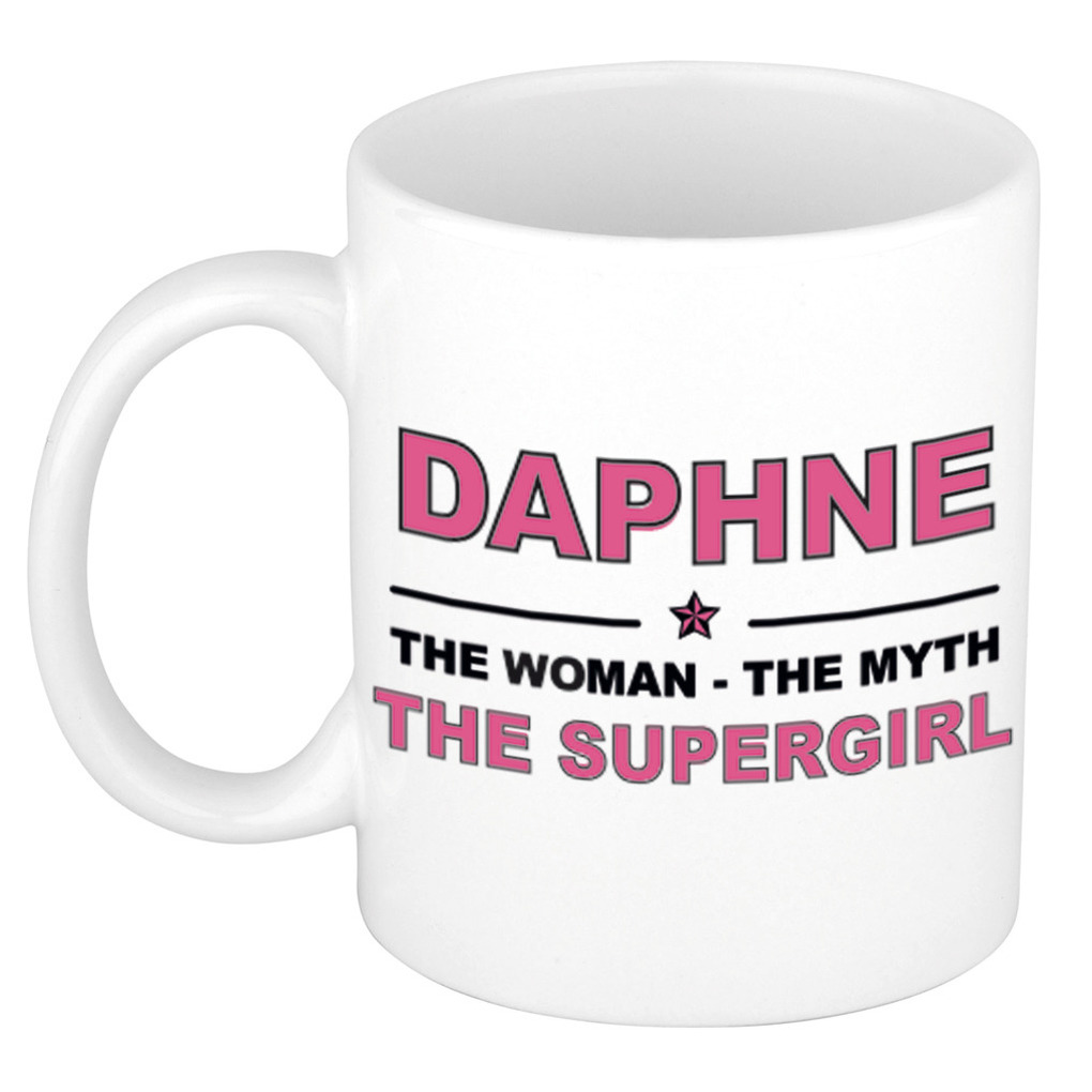 Daphne The woman, The myth the supergirl cadeau koffie mok - thee beker 300 ml