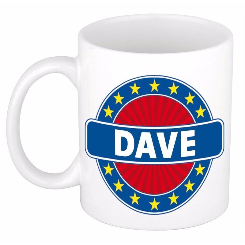 Dave naam koffie mok - beker 300 ml