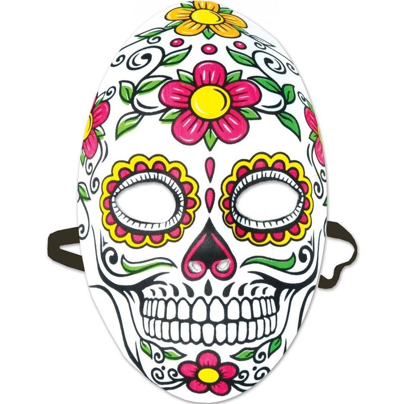Day of the Dead sugarskull gezichtsmasker voor dames