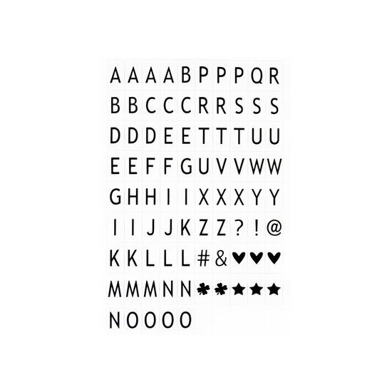 Deco lichtbak/lightbox letters 85 stuks