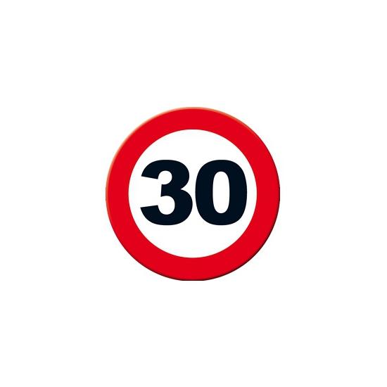 Decoratie verkeersbord 30 jaar 49 cm