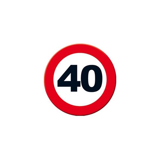 Decoratie verkeersbord 40 jaar 49 cm