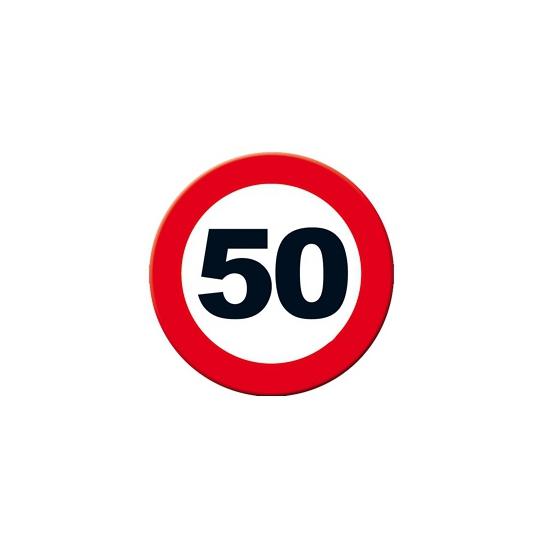 Decoratie verkeersbord 50 jaar 49 cm