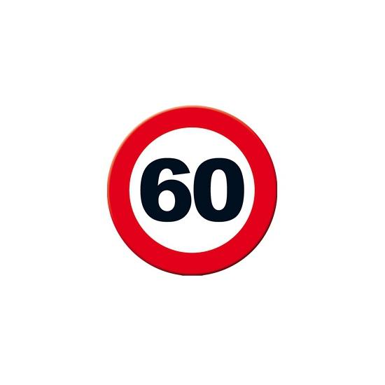 Decoratie verkeersbord 60 jaar 49 cm