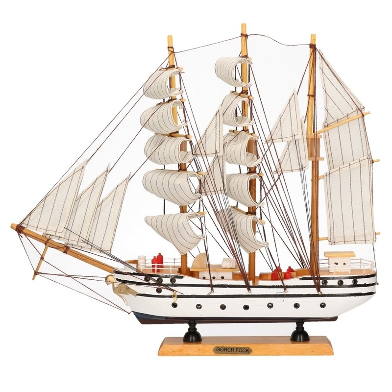 Decoratie zeilboot Gorch Fock