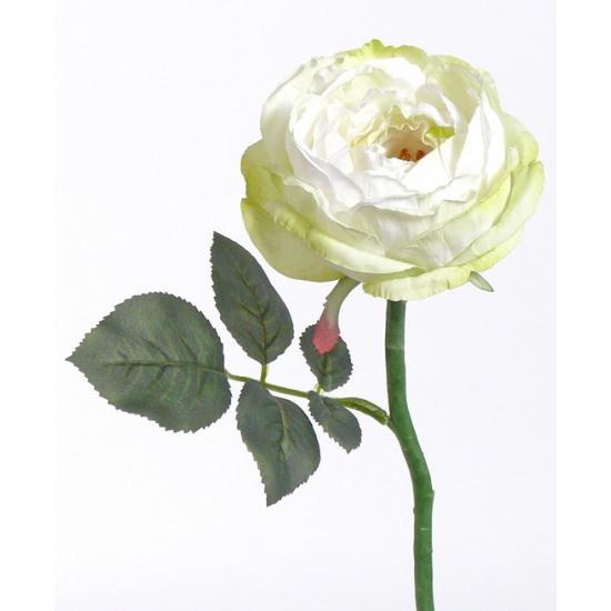 Deluxe kunst roos Luna wit 33 cm