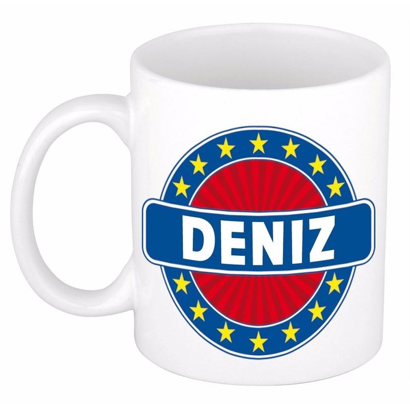Deniz naam koffie mok / beker 300 ml