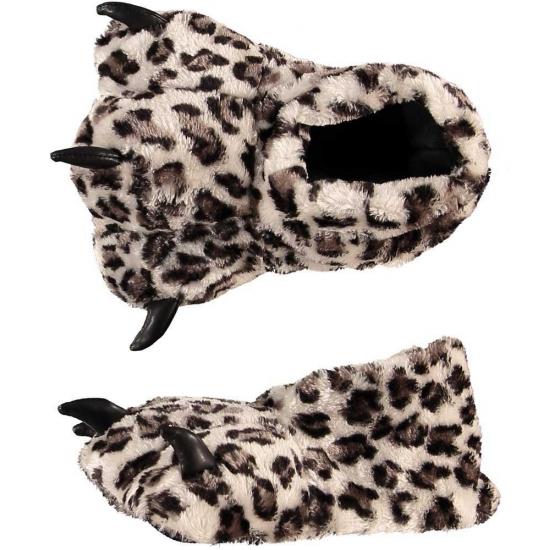 Dierenpoot sloffen luipaard voor dames