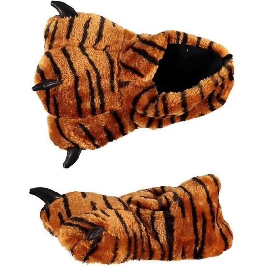 Dierenpoot sloffen/pantoffels tijger voor kinderen