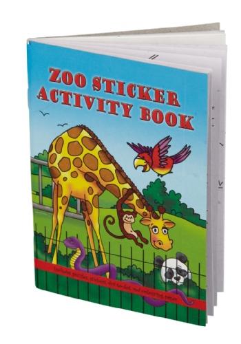 Dierentuin kleurboek met stickers