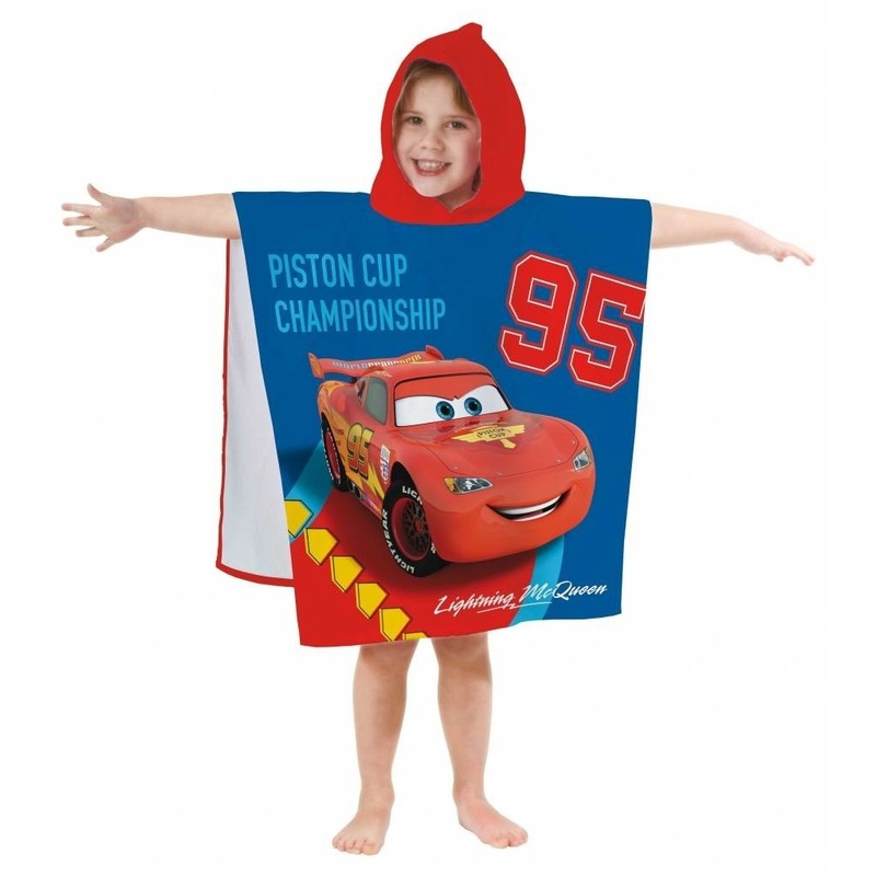 Disney Cars badponcho/handdoek 60 x 120 cm