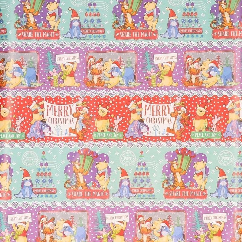 Disney Winnie De Poeh Kerst Inpakpapier 1 Rol 70 X 200 Cm