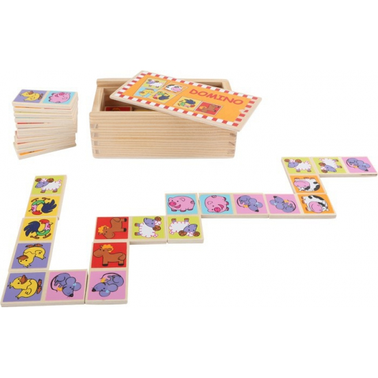 Domino spel dierentuin dieren
