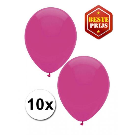 Donkerroze ballonnen 10 stuks