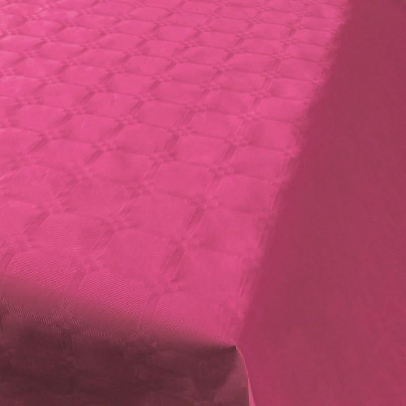 Donkerroze papieren tafellaken/tafelkleed 800 x 118 cm op rol