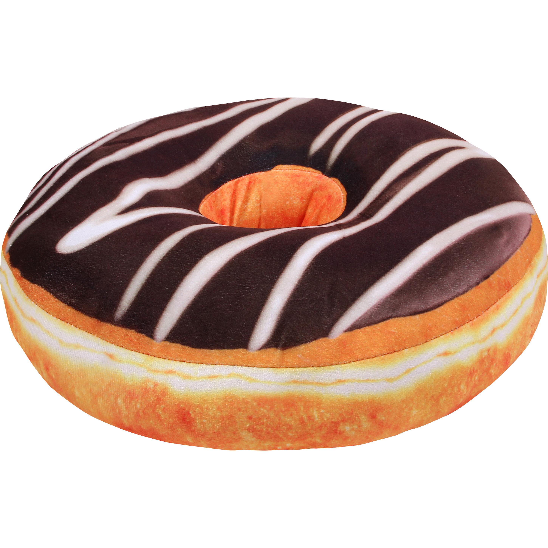 Donut kussen chocolade 40 cm
