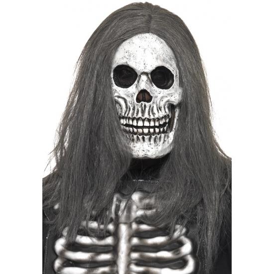 Doodshoofd masker met haar