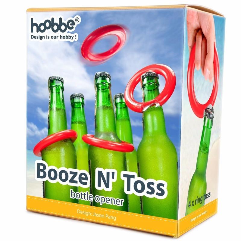 Drankspel bierfles ringen gooien