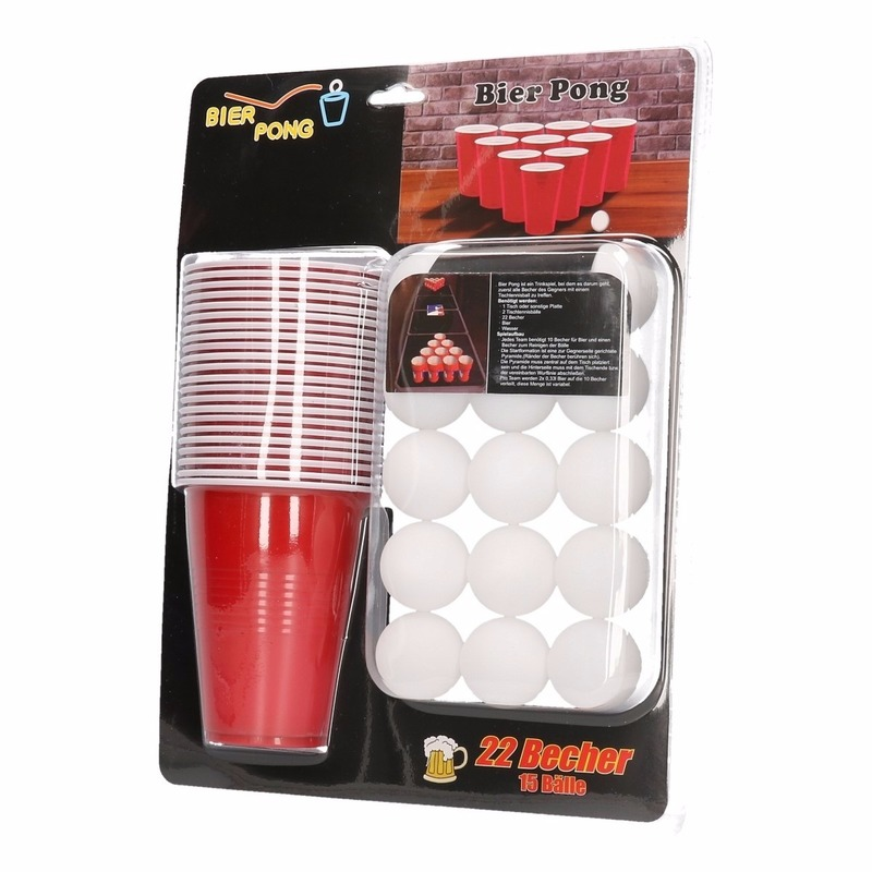 Drankspel/drinkspel beer pong set 37 delig
