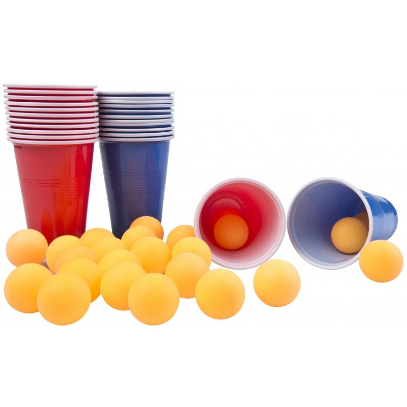 Drankspel/drinkspel beer pong spel 48 delig