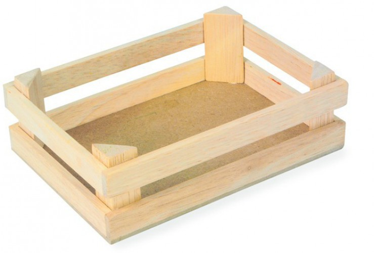 Drie houten kisten 11 x 8 x 6 cm