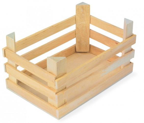 Drie houten kisten 18 x 12 x 10 cm