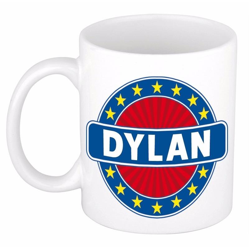 Dylan naam koffie mok - beker 300 ml