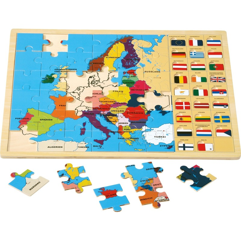 Educatieve Europese landen puzzel 45 cm