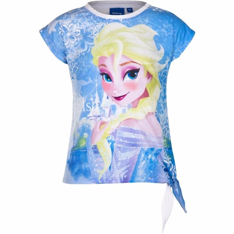 Elsa t-shirt wit voor meisjes