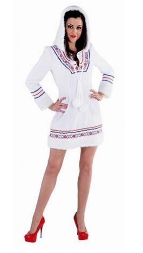 Eskimo jurkje voor dames met capuchon